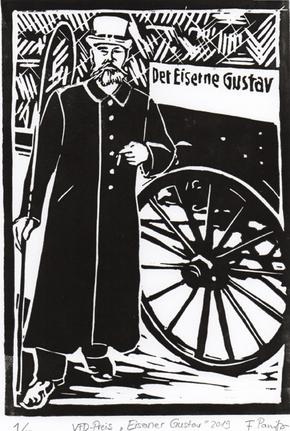 Linolschnitt Eiserner Gustav - Flavia Panitz